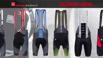 calzoncini da ciclismo santini