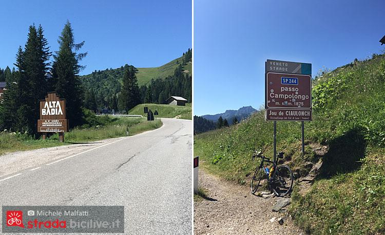 corvara e passo campolongo in bici