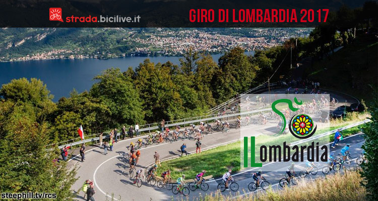ciclisti professionisti al giro di lombardia