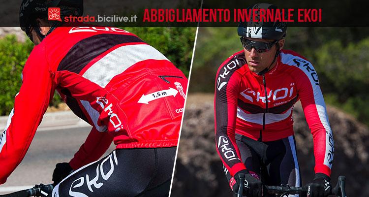 ciclista con abbigliamento invernale ekoi competition 10