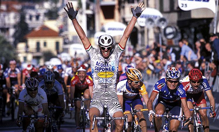 cipollini vince allo sprint la milano-sanremo nel 2002