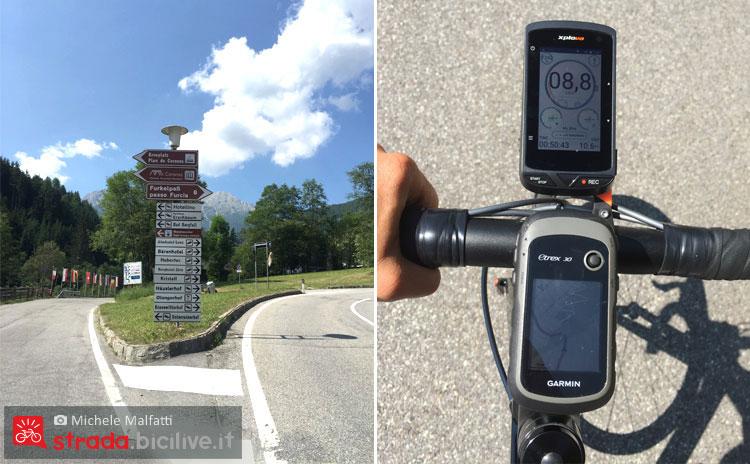 indicazioni stradali e percorso gps della salita al passo furcia