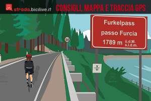 ciclista sale al passo furcia in alto adige