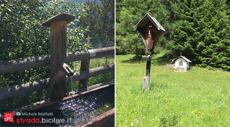 fontane e crociffisi in legno in alto adige