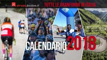 calendario granfondo di ciclismo 2018 in italia