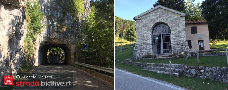 gallerie e chiesa a campo croce verso il grappa
