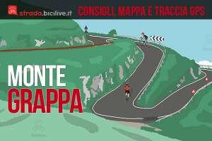 ciclisti salgono al monte grappa in bicicletta