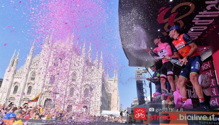 podio classifica generale giro d'italia