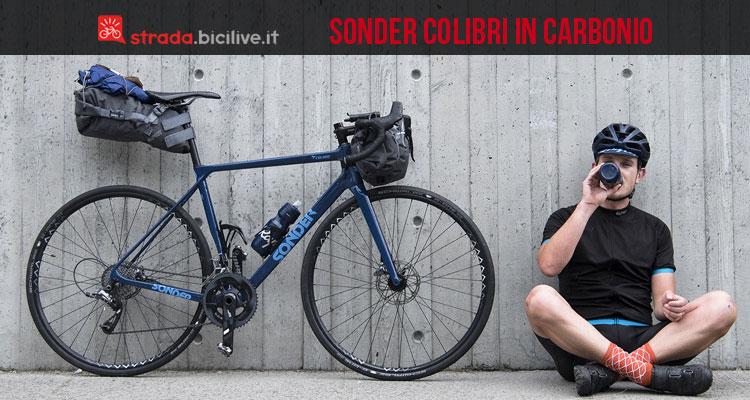 sonder colibri bici per bikepacking in carbonio