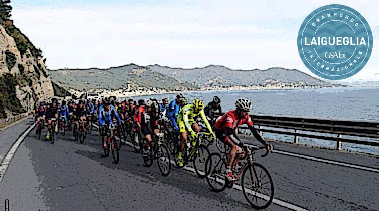 Ciclisti pedalano alla gf di Laigueglia