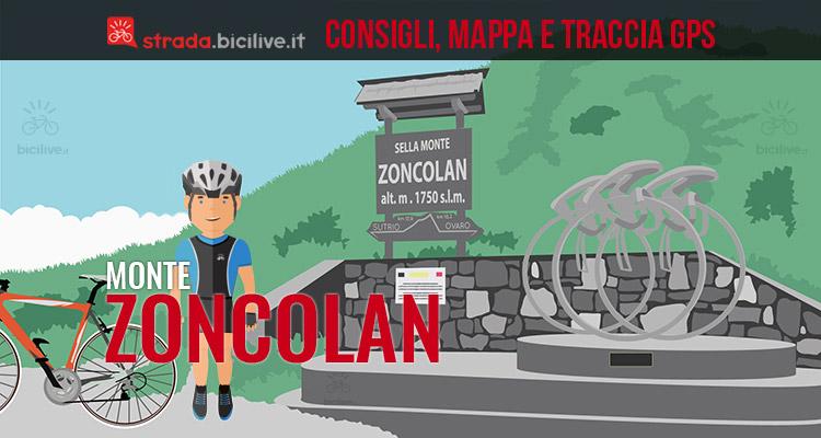 ciclista arrivato al monte zoncolan in bici