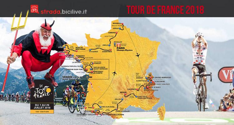 percorso del tour de france 2018 e maglia a pois