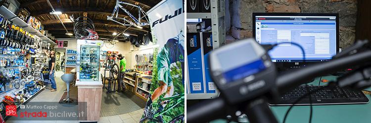 foto del fuji bike store e una ebike in assistenza