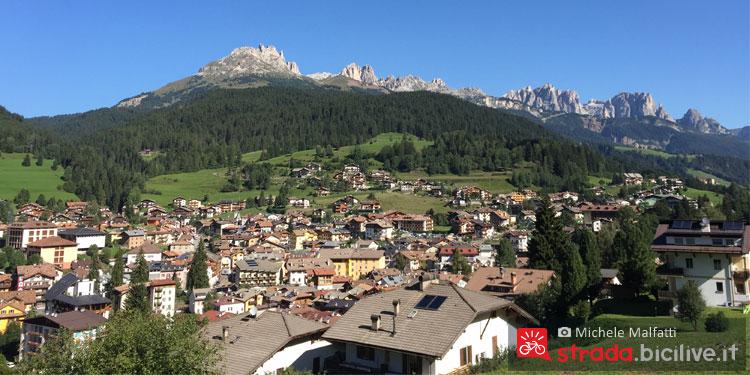 panorama della Dolomiti da Moena