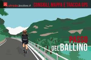 ciclista sulla strada verso il passo del Ballino