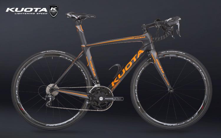 Una bici da triathlon Kuota Kougar Tri del catalogo 2018