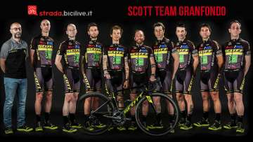 foto dello scott team granfondo 2018