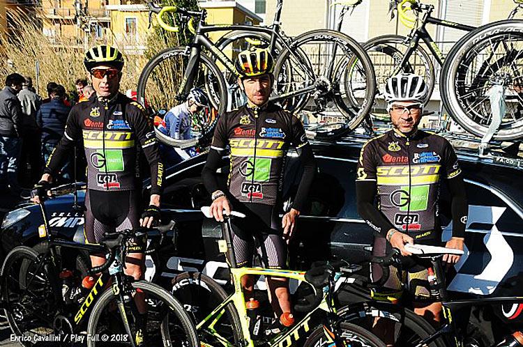 Guido Paolo Dracone, Andrea Coruzzi e Fabio Laghi. dello scott team granfondo