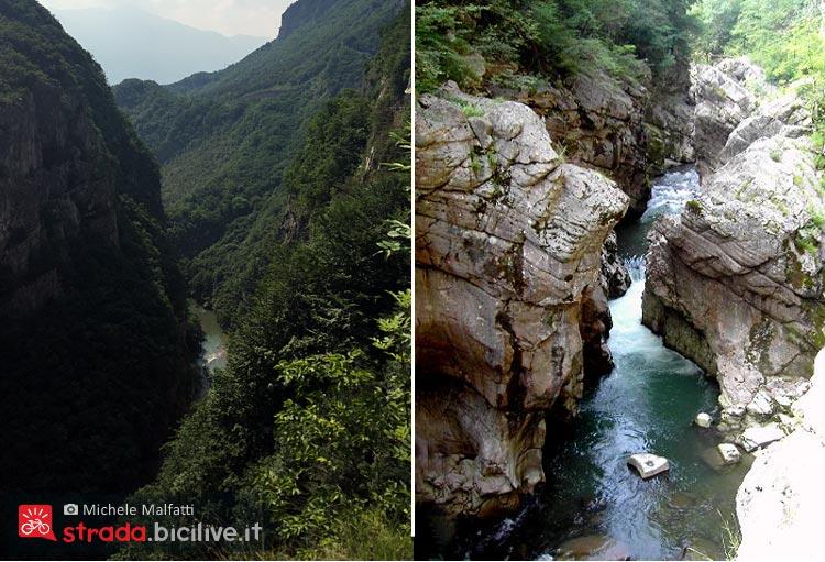 Canyon di Limarò nella valle del Sarca
