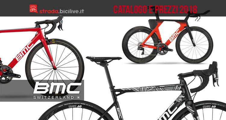 biciclette da strada dal catalogo BMC 2018