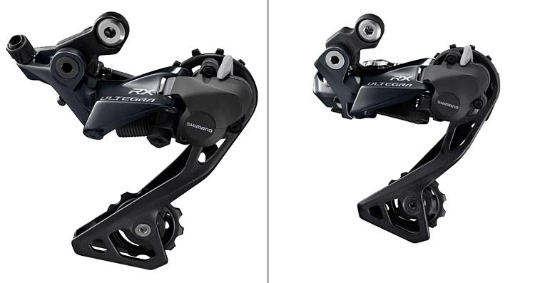 nuovo deragliatore Shimano Ultegra RX con sistema Shadow RD+