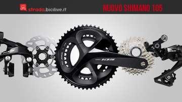Il nuovo gruppo Shimano 105 R7000