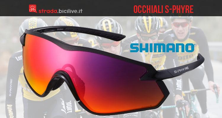 Occhiali Shimano S-Phyre per ciclisti strada