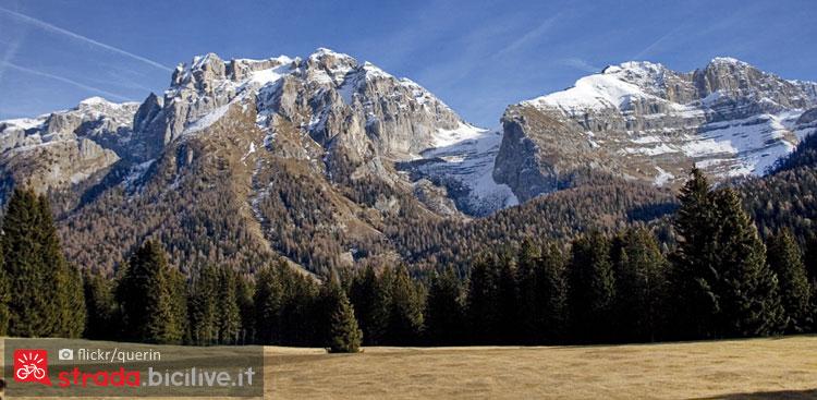 panorama delle Dolomiti del Brenta da Carlo Magno