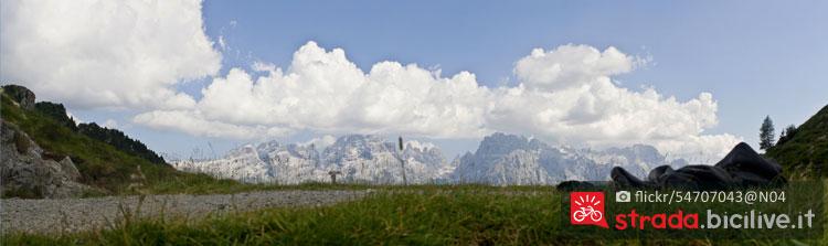 panorama delle Dolomiti del Brenta