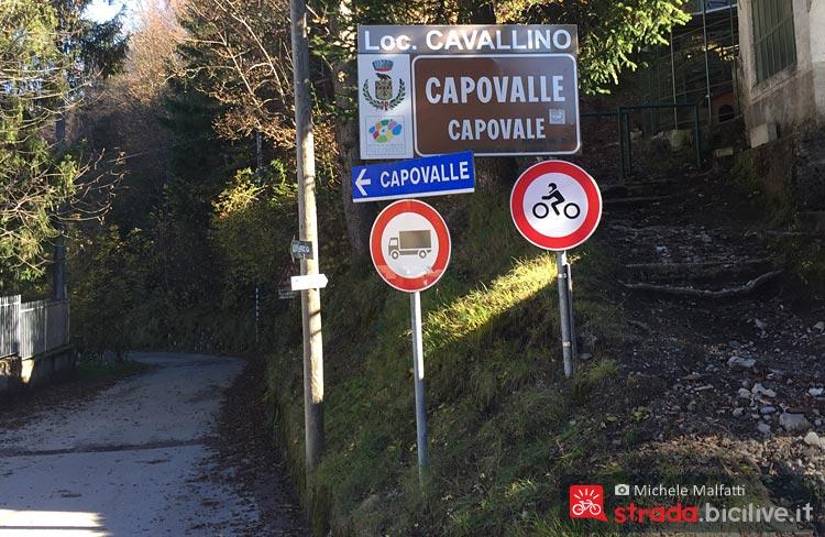 indicazioni del passo Cavallino a Brescia