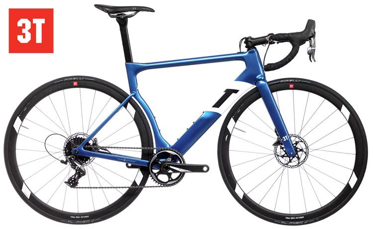 La bicicletta da strada 3T Strada Pro con guarnitura 1x