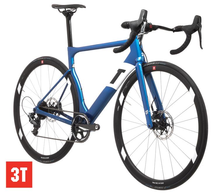 Una bicicletta da corsa 3T Strada Pro con guarnitura 1x