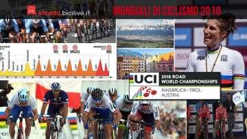 collage di foto dei campionati del mondo di ciclismo