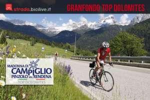 ciclista sulla salita della Granfondo Top Dolomites