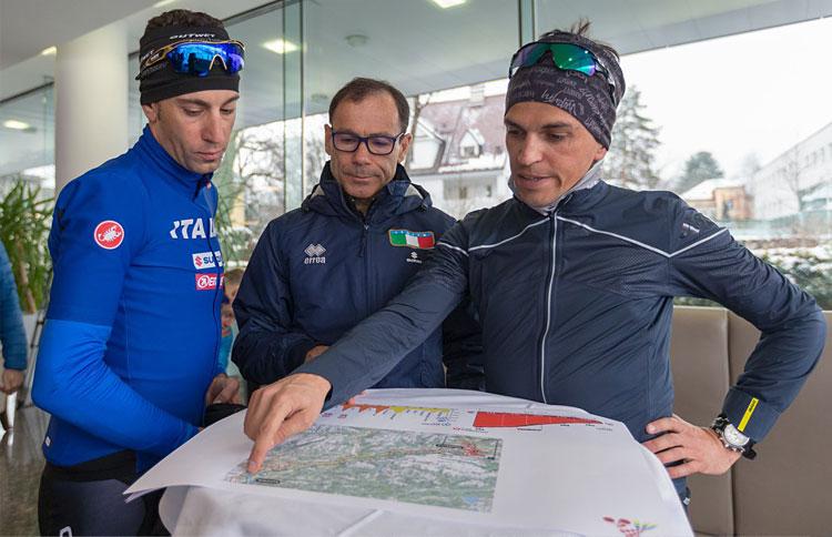 Nibali e Cassani in ricognizione a Innsbruck