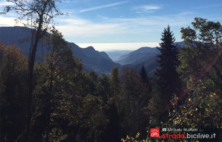 panorama della valle in provincia di Brescia