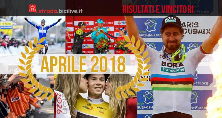 vincitori e protagonisti delle gare UCI di aprile 2018