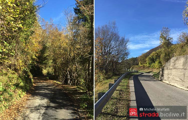 strada poco trafficata che sale al passo Cavallino