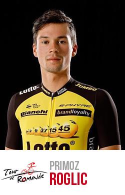 Primoz Roglic del team Loto vincitore del Giro di Romandia