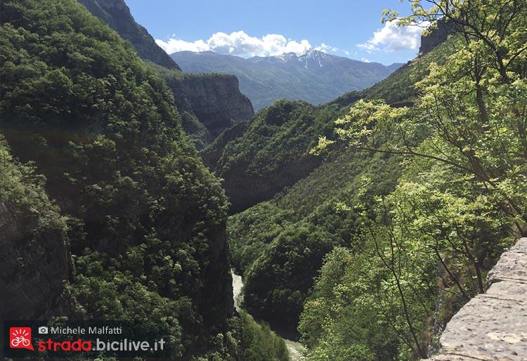 canyon del Limarò visto da un giro in bicicletta