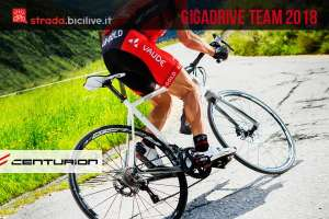 ciclista in sella a una Centurion Gigadrive Team 2018
