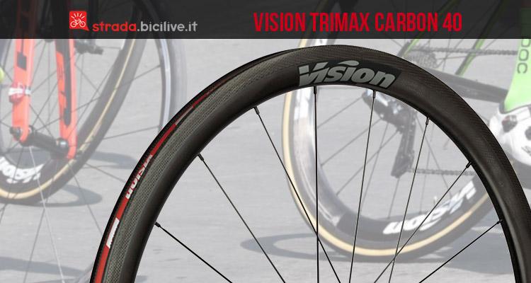 cerchio in carbonio Vision Trimax 40