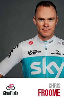 Chris Froome vincitore del Giro d'Italia 2018