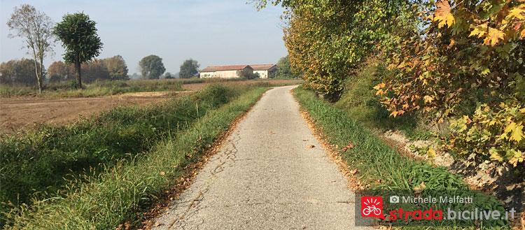 panorama del primo tratto di pista ciclabile