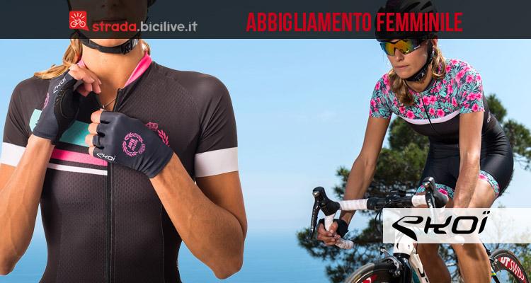 cicliste con abbigliamento tecnico Ekoi