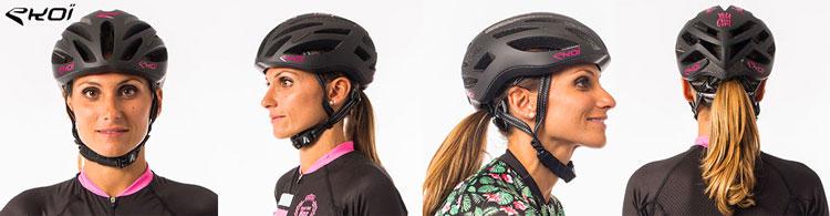 Il casco da ciclismo ideato per donne Ekoï Corsa Evo Lady Helmet