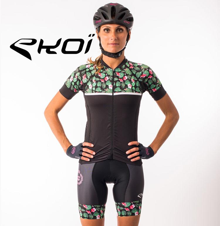 La maglia da ciclista  ekoi della collezione femminile primavera estate 2018