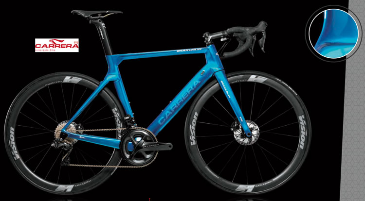 La bici da corsa Erakle Air specialedition di Carrera per il 2019