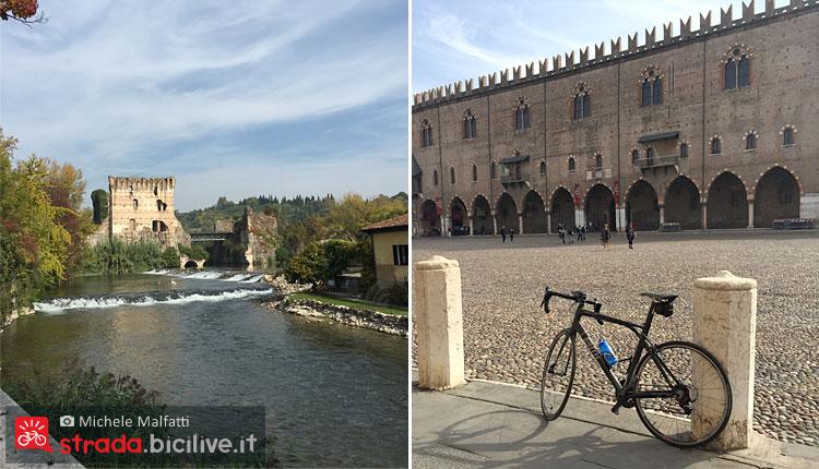 arrivo a Mantova in bicicletta