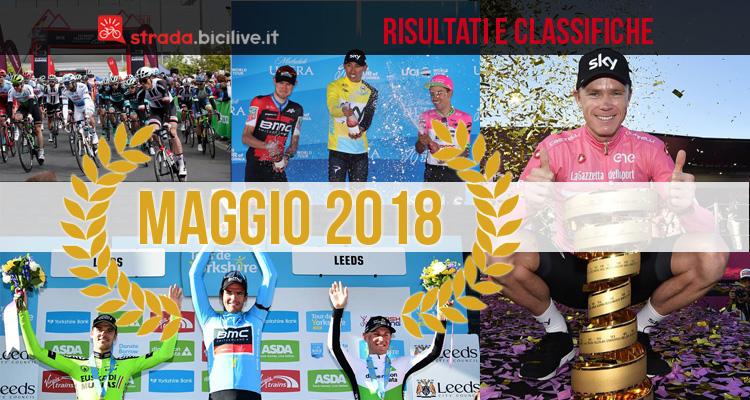 ciclisti vincitori delle gare UCI di maggio 2018